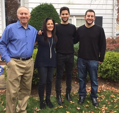 Family of Max Ehrich with Father Bruce Ehrich, Mother Rhonda Ehrich and Brother Matthew Ehrich