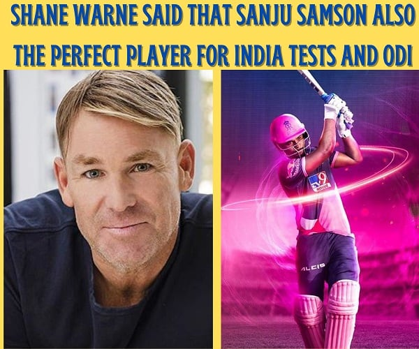 Shane Warne said that Sanju Samson also the best player for India for Tests and ODIs
