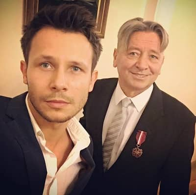 Squared Love Actor Mateusz Banasiuk with father Stanislaw Banasiuk